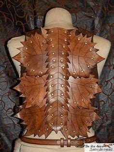 pattern black dragonscale breastplate leather armor heavy dragon scale chest back shoulders