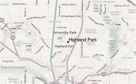 map of highland park texas highland park texas location guide