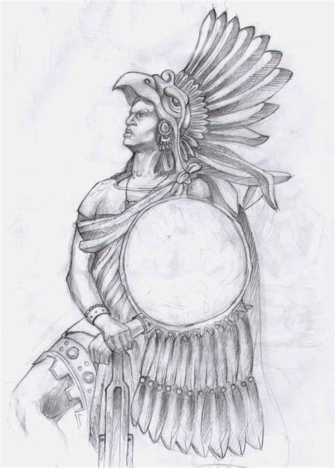 Aztec Warrior Tattoos Drawings Aztec Warrior By Theegas On Deviantart