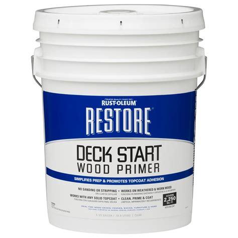 rust oleum restore  gal deck start wood primer