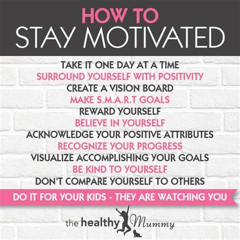 how to to stay how to stay motivated when losing weight