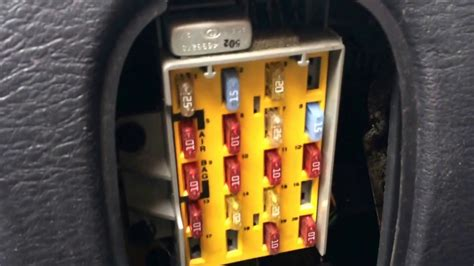chrysler pt cruiser fuse box location youtube