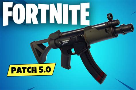 fortnite  patch notes  smg typewriter assault