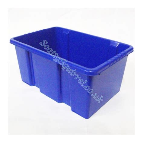 shelf tidy plastic storage box blue 7l