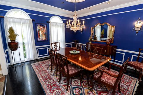 Royal Blue Dining Room by An Interior Design Tribute To Blue