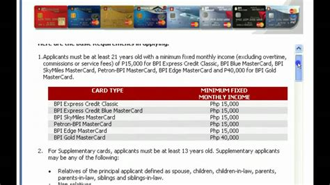 Credit Card Application Form Bpi How To Apply For Bpi Credit Card