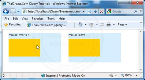 javascript tutorial mouseover mouseover events jquery
