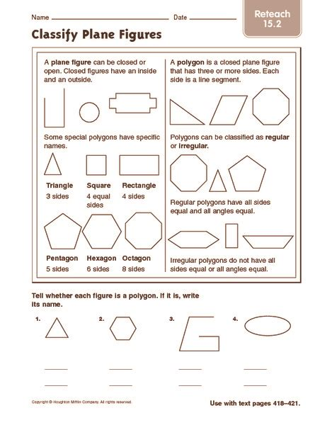 Classifying Polygons Worksheet by Classifying Polygons Worksheet Worksheets Releaseboard