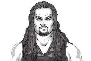 how to draw roman reigns from wwe drawingnow