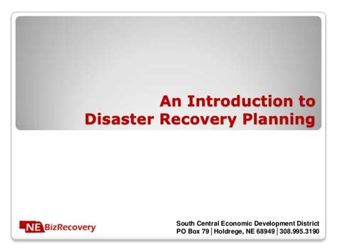 An Introduction To Disaster Recovery Planning Disaster Recovery Powerpoint Template