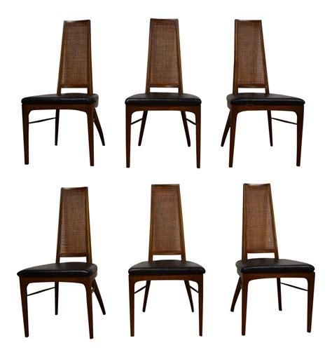 Black Vinyl Dining Chairs Rhythm Black Vinyl Dining Chairs Set Of 6 Chairish