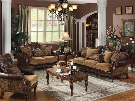 vintage livingroom furniture selection for traditional living room design