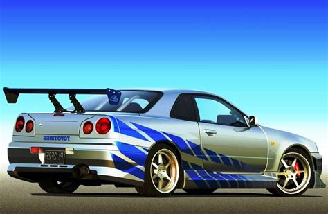 blue nissan skyline fast and furious nissan gtr skyline r34 image 228