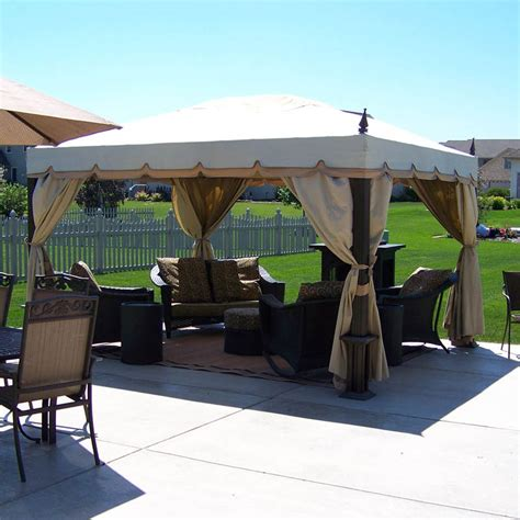 pacific casual gazebo pacific casual 10 x 12 single tiered replacement canopy