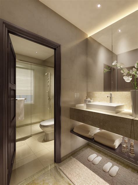 bathroom model luxurious bathroom with marble floor 3d model max