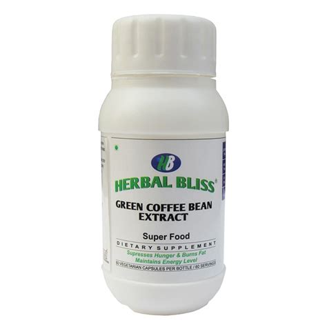 Herbal Green Coffee Bean herbal bliss green coffee bean extract 50 chlorogenic acid 60 capsules buy