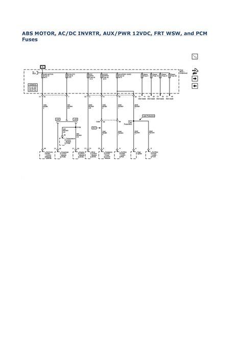 2008 Chevy Uplander Wiring Diagram Schematics Color