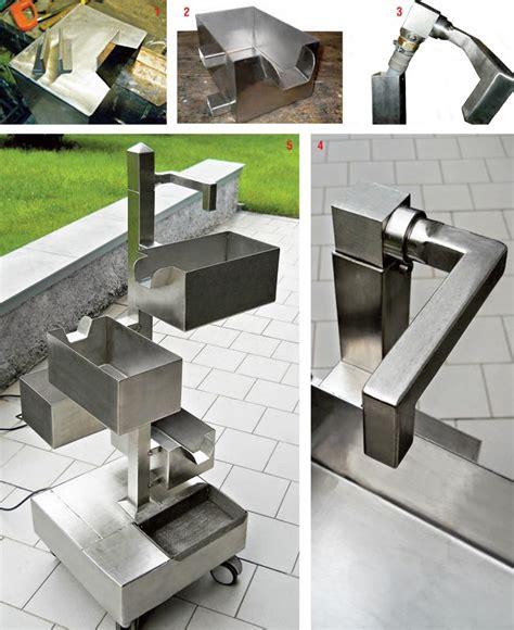 fontane da giardino brico fontana zen fai da te in acciaio inox per giardino