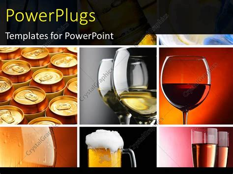 powerpoint template a collection of wine glasses with