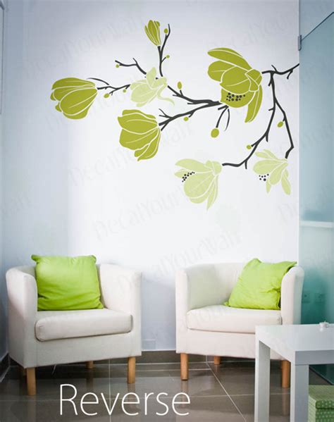 flower wall stickers for bedrooms magnolia flower blossom decal large tree branch stickers