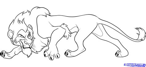 how to draw scar from lion king step by step disney