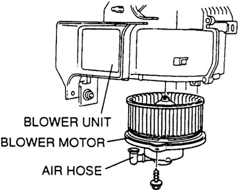 how to change blower motor on a 1997 gmc savana 3500 repair guides heating and air conditioning blower motor autozone com