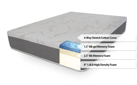 foam bedding ultimate dreams supreme 12 quot gel memory foam mattress