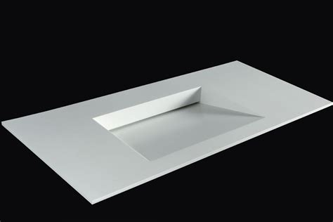 Corian Integrated Bathroom Sink rectangular corian 174 washbasin with integrated countertop plano wb10 by rifra