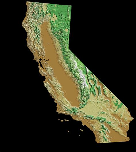 california relief map california relief map