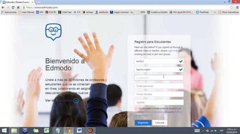 tutorial para registrarse en edmodo edmodo registrarse por primera vez en edmodo como