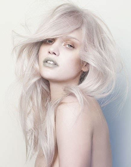 silver blonde stylenoted hair color inspiration concrete silver blonde