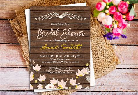rustic bridal shower diy 40 bridal shower invitation exles