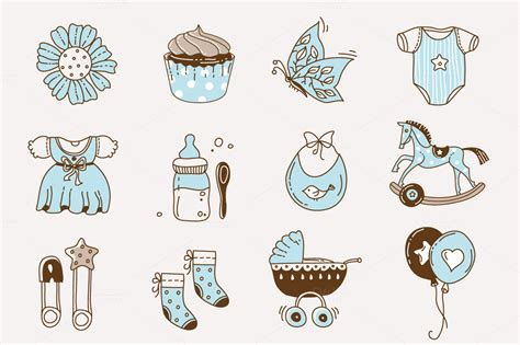doodle boy baby doodle icons for boys and graphics on