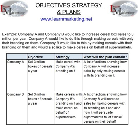 Objectives Strategy And Plans Strategic Goals And Objectives Template