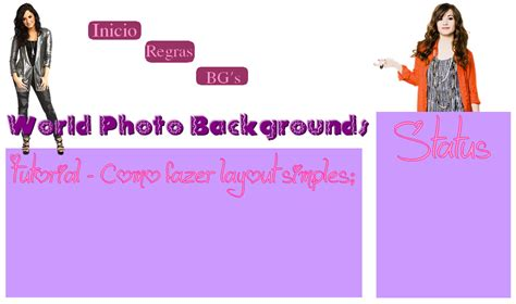 usar layout it world photo backgrounds tutorial como fazer layout simples