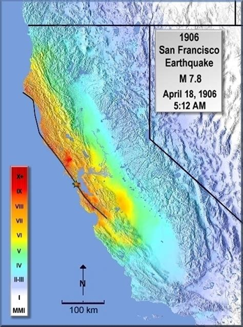 san francisco earthquake map 1906 modified mercalli intensity maps for the 1906 san