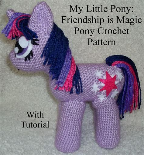 amigurumi pattern my little pony mlp fim pony crochet pattern with tutorial by