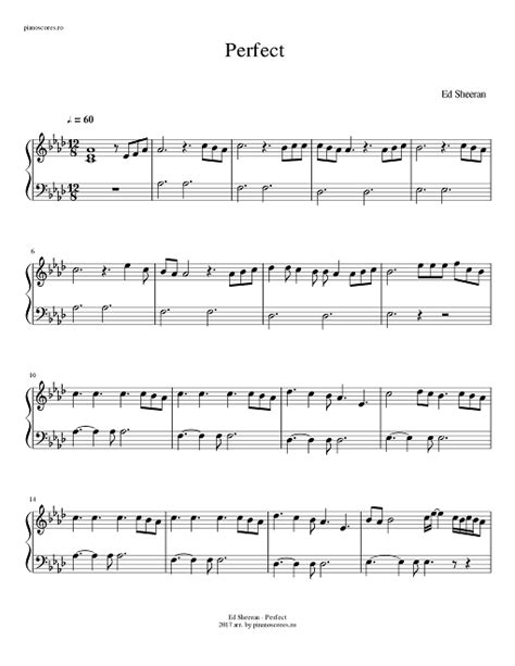 ed sheeran perfect piano notes ed sheeran perfect free piano score pdf