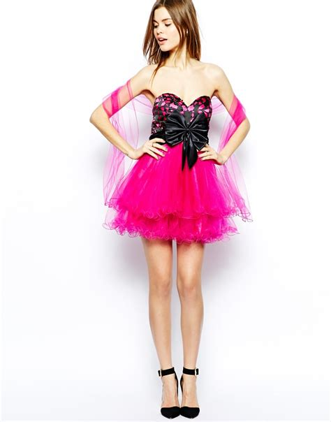 Richelle Dress Big Bow 9 forever unique prom dress with big bow in pink lyst