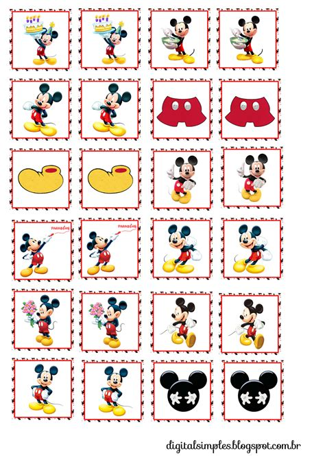 printable mickey stickers mickey toppers etiquetas o stickers para imprimir gratis