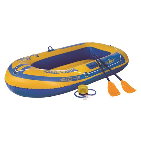 inflatable boat kit stansport 2 person inflatable boat kit ebay