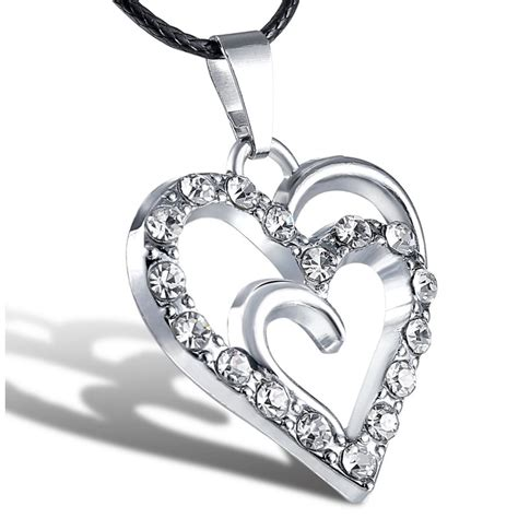 Ss Leather Necklaces 1 cool stainless steel silver unisex pendant leather necklace jewelry 1p ebay