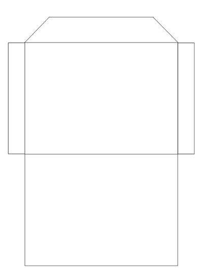 printable envelope writing guide envelope template craft found