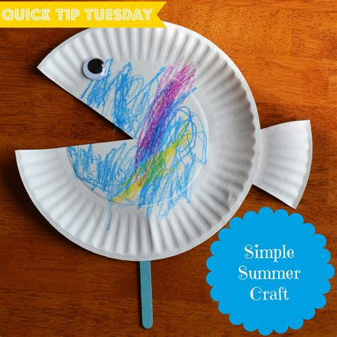 simple paper crafts east coast tip tuesday 5 simple summer craft