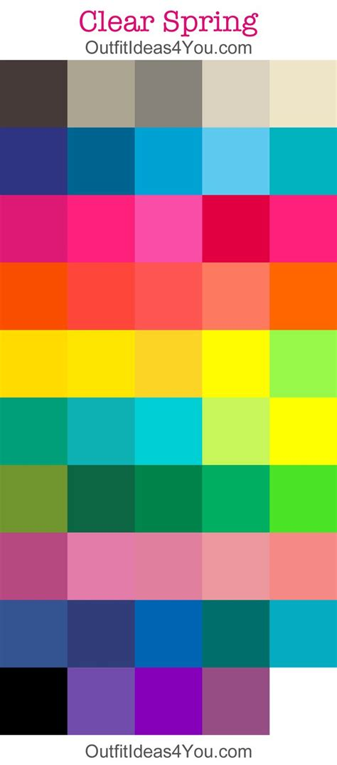 spring colors palette 25 best ideas about color me beautiful on pinterest