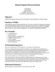 sle resume for experienced network administrator network engineering resume sle resume 28 images