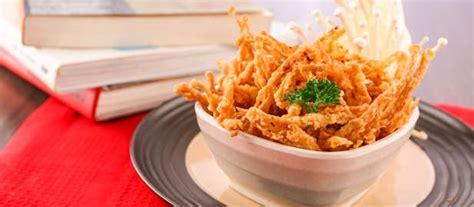 membuat jamur crispy pedas jamur enoki goreng crispy resep dari dapur kobe