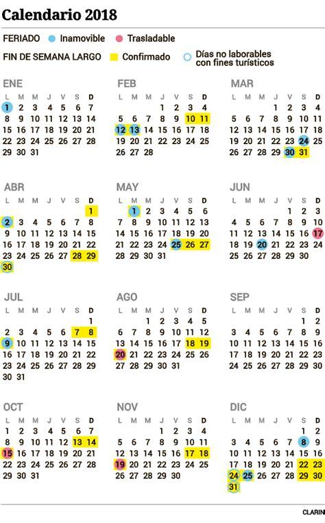 Calendario Feriados 2018 Feriados 2018 C 243 Mo Qued 243 El Calendario Definitivo A 241 O