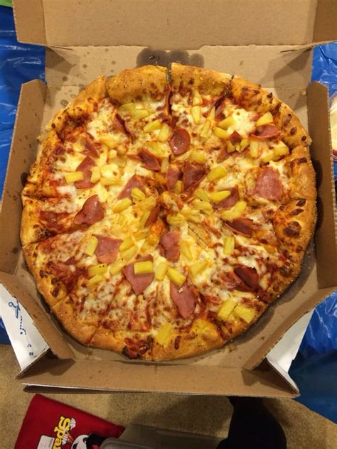 domino pizza hand tossed medium hand tossed ham and pineapple yelp