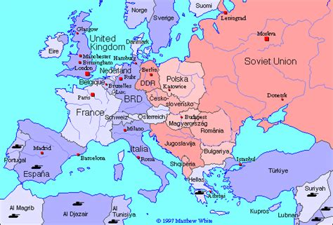 europe map 1945 historical map of europe 1945 1990